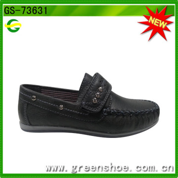 Velcro Flat Sole Formal Softextile Leather Fabric Shoe